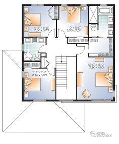 D Tail Du Plan De Maison Unifamiliale W3880 Projets