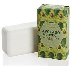 Crabtree & Evelyn Avacado & Olive Oil Triple Milled Soap. Lovely, fresh smell and very creamy.