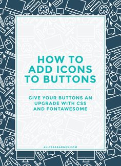 How to add icons to buttons | Learn how to add icons to your WordPress blog's buttons with FontAwesome. Not only will the icons add some personality to your site, but they'll add emphasis to your calls to action. Click to learn how!