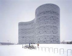subtilitas:  Typography as scalar ambiguity; Herzog & de Meuron's IKMZ Cottbus libary, Brandenburg . Via.
