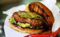 Pork and Chorizo Chile Burger