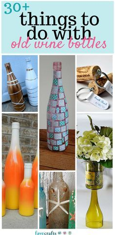30+ Things to Do With Old Wine Bottles - Transform old wine bottles into brand new DIY ideas with this lovely list of wine bottle crafts.