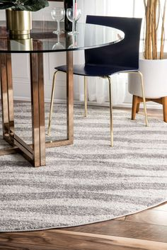 Accentuate your living space with the waves patterned rug that is perfectly constructed with 100% polypropylene to make the rug easy to clean. This machine made rug comes in various sizes to suit a modern décor.