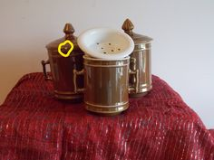 A collection of Mehun tea / coffee drip filter pots. One being made by Royal Worchester. brown glazed, would be ideal for replacements. by ByGoneEraEmporium on Etsy
