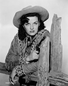 """American actress Jane Russell stars as Wild West sharpshooter Calamity Jane in """"The Paleface."""" 1948. S)"""