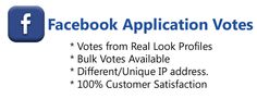 Buy Facebook Application Votes | Get Contest Votes Online. Facebook Application Votes from different USA IP Address Votes from Real Look Facebook Profiles. #buyonlinevotes #buycontestvotes #buyfacebookvotes #getonlinevotes #getcontestvotes #buyvotesforonlinecontest #buyipvotes #getbulkvotes