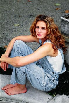 Julia Roberts- I like how her overalls look comfy, not like skinny jeans of today