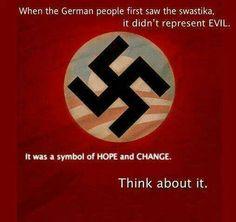 Obama hitler swastika hope and change evil