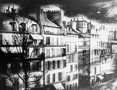 Louis Daguerre, View of Paris 1839 Louis Daguerre, Documentary Photographers, Famous Photographers, Old Pictures, Old Photos, Vintage Photos, Today In History, Old Paris, History Of Photography