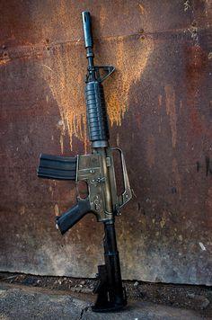 Airsoft Guns, Weapons Guns, Guns And Ammo, M16 Rifle, Assault Rifle, Ar Pistol, Battle Rifle, Military Guns, Weapon Concept Art