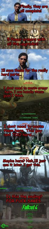 That Power Armor Logic Tho  Fallout Sci-fi Video Games Video Game Movies Meme