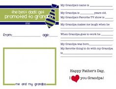 free printable father's day survey about grandpa