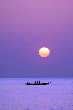Lilac sky on Paradise beach - Gambia