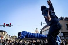 SENTENCING TIME :  An officer lashed a man who was convicted of rape in Sabzevar, Iran, Wednesday. Rape, like murder and treason, can be punished by the death sentence in Iran, but sometimes judges imposed a sentence of lashes. (Hossein Esmaeli/Associated Press)