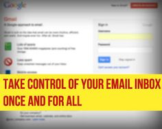 This is a great series on how to control the email inbox.  Installments 2 and 4 are especially helpful for non-businesses, but all 7 installments have some great tips.