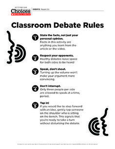 How to hold a classroom debate! These rules and step-by-step instructions are sure to engage your students in a lively discussion.