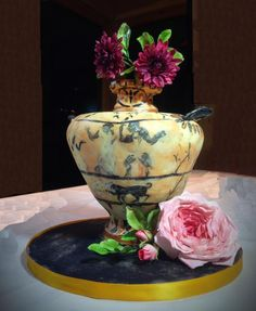 Greek Vase and Flowers - Cake by Fifi's Cakes