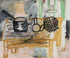 Saucepan, 1998 Oil on Canvas 102 x 122 cm | Alison Jacques Gallery, Roy Oxlade