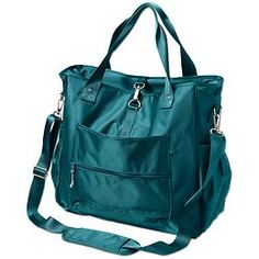 Cargo Tote - Our most durable utility tote with an abrasion- and water-resistant outer now comes with a built-in protective laptop sleeve.  in green
