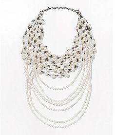 Anna & Ava Multi-Row Pearl Necklace