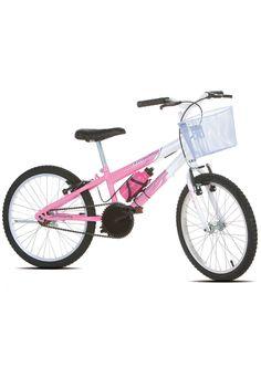 10e5339d9 Bicicleta Infantil Aro 20 Sport Bike Thunder Rosa e Branca