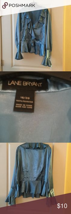 Great blouse. Nice blouse with button sleeve & front. Lane Bryant Tops Blouses