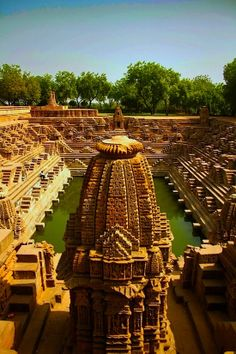 Modhera Sun Temple - a Hindu temple dedicated to the solar deity Surya located at Modhera village of Mehsana district, Gujarat, India. It is situated on the bank of the river Pushpavati.