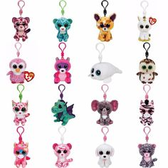 Ty Beanie Boo Clips - Key Chain or Back Pack Clip BNWT - Choose your favorites