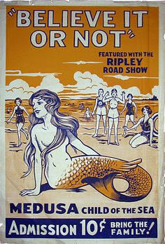 """Ripley's """"Believe it or Not"""" Road Show poster. 1936"""