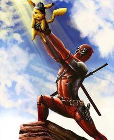 superhero marvel geeks news Deadpool Pikachu, Pikachu Art, Deadpool Art, Deadpool Funny, Funny Marvel Memes, Funny Comics, Deadpool Wallpaper, Avengers Wallpaper, Deadpool Pictures