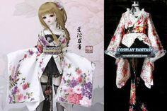 Gothic Lolita Dress SD BJD Cosplay Kimono costume Skirt