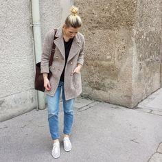 tifmys - Zara coat, Cheap Monday shirt, M0851 bag, H&M denim & Adidas Gazelle sneakers.