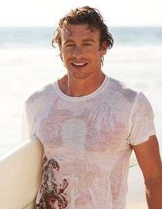 This is a trivia article for Australian actor Simon Baker, a.a Patrick Jane from The Mentalist. It features miscellaneous Simon Baker info, covering both his career and private life. Patrick Jane, Simon Baker, The Mentalist, Pretty People, Beautiful People, Baker Beach, Raining Men, Good Looking Men, Mannequins