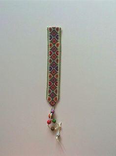 Bookmark Multi colour, Hand embroidered, Cross stitch Gaza Palestine
