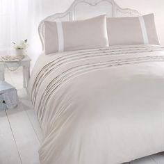 Lincoln Natural Embellished duvet and pillowcase set