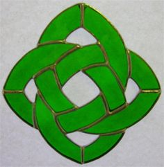 Burren Stained Glass Art - Diamond Knot Suncatcher