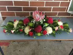 Funeral Floral Arrangements, Creative Flower Arrangements, Tropical Floral Arrangements, Church Flower Arrangements, Church Flowers, Beautiful Flower Arrangements, Funeral Flowers, Flower Centerpieces, Flower Decorations