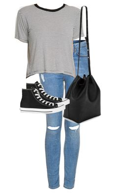 """""""Untitled #9115"""" by alexsrogers ❤ liked on Polyvore featuring Topshop, Kenneth Cole and Converse"""