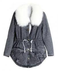 dark blue denim jacket fluffy wool inside - Google Search
