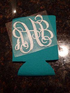 Glitter Iron On Monogram Heat Transfer DIY by GirlAndHerDogShop, $6.00