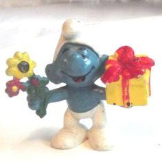 Vintage Smurf, Vintage Peyo Smurf, Vintage Happy Birthday Smurf - 1978 - rare by BeautifulVintageBits on Etsy