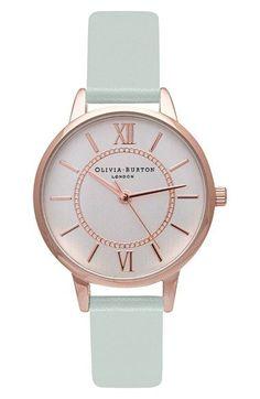 Olivia Burton 'Wonderland' Leather Strap Watch, 30mm - watches, digital, classic, female, womens, leather watch *ad