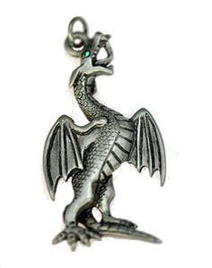 ultimate powerful dragon strength sterling silver 925 charm jewelry emerald eye Real Sterling silver 925 pendant Charm jewelryLike this item find it at https://www.etsy.com/shop/princeofdiamonds