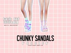 sims 4 mods ~ chunky sandals