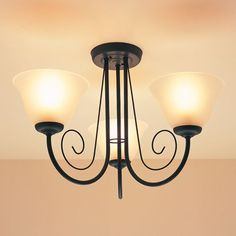 Priory 3 Light Semi Flush  0000005111008 B Q     27 98   Decor     Ironbridge Textured Black Semi Flush  5014838046593