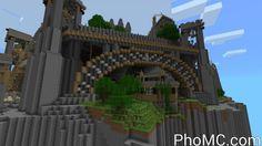 Minecraft House on Cliff
