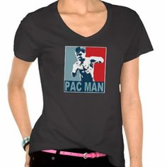 MP PAC MAN Blue and Red with Glove Logo Women's Hanes Nano V-Neck (Assorted Colors) #Boxing #MMA