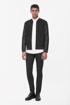 COS | Leather sleeve jacket