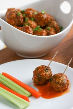 Buffalo Meatballs - Perfect for Monday night football!