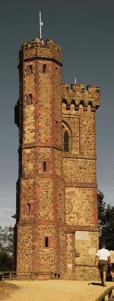 Miniature Castle - Leith Hill Tower, Surrey, England. [1366x3594]